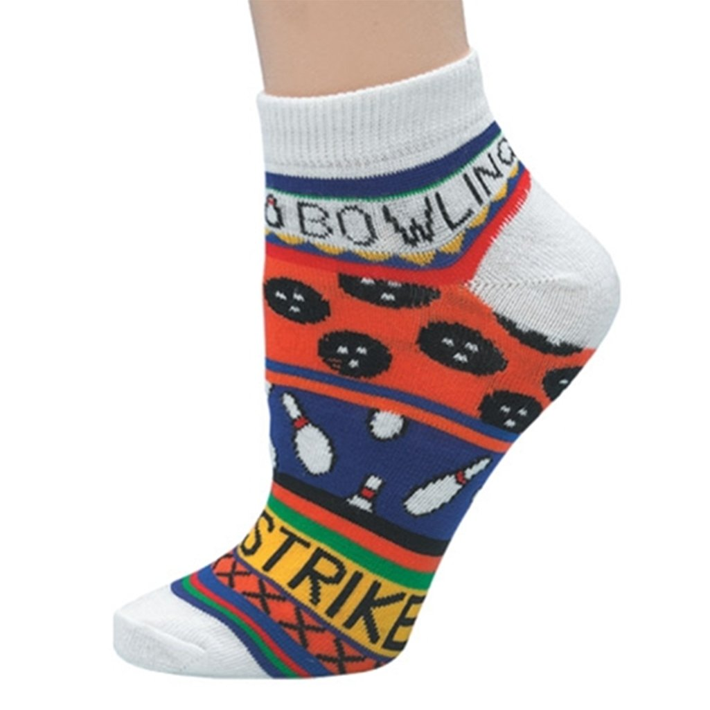 Ladies Bowling Theme Socks Master (One Size Fits Most, Orange)