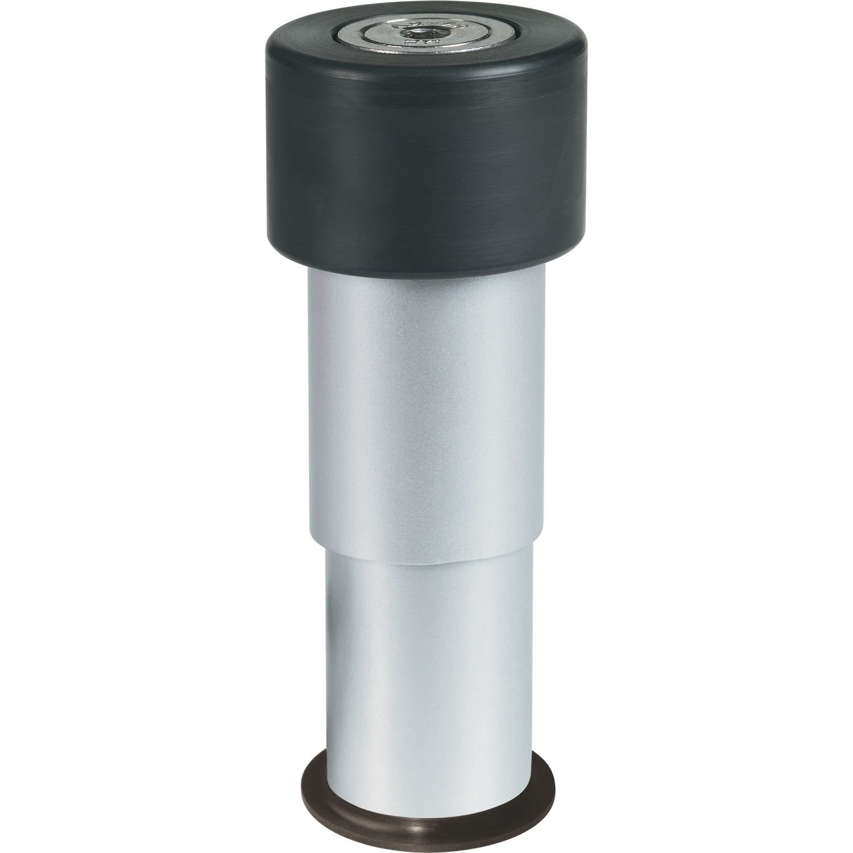 H/öhe: 6-14 cm GATESTOP Torpuffer 1 St/ück Locinox Torstopper Bodenanschlag Aluminium