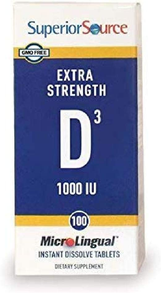 Superior Source Vitamin D3 [1000] IU Sublingual Tablets - Vitamin D Supplement Quick Dissolve Melts - 100 Count, White ('076635908509): Health & Personal Care