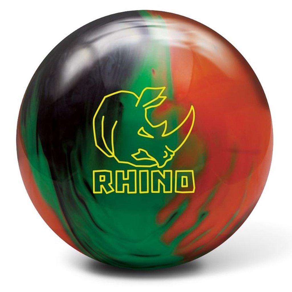 Brunswick Rhino Reactive pre-drilled Bowling ball-ブラック/グリーン/オレンジ B07B5KMTC2   10lbs