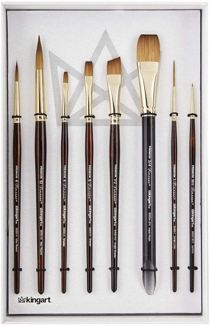MODELLER FINE PAINT BRUSHES 0 00 000 SIZES  SYNTHETIC SABLE  X 3 TRIANGLE HANDLE