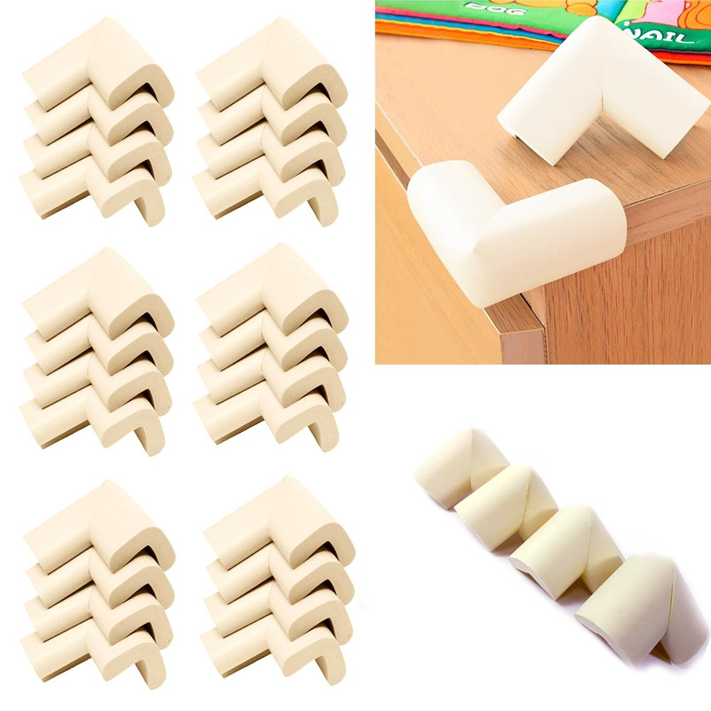 24 Pc Baby Safety Cushion Protector Table Desk Edge Corner Guard Softener Bumper