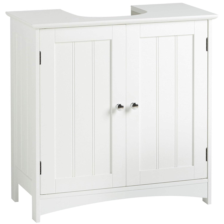 Admirable Vonhaus Under Basin Storage Unit White Colonial Style Bathroom Cabinet Home Interior And Landscaping Pimpapssignezvosmurscom
