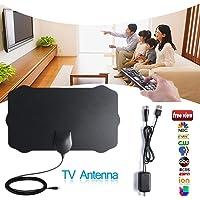 KiGoing Antenne TV 120 Milles Antenne Numérique Récepteur TV d'intérieur Numérique HD 1080P avec Amplificateur de Signal