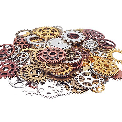 Alloy Mechanical Steampunk Cogs & Gears Fashion DIY Decor Handmade Jewelry Accessories (Mix Color) (Mechanical Copper Clock)