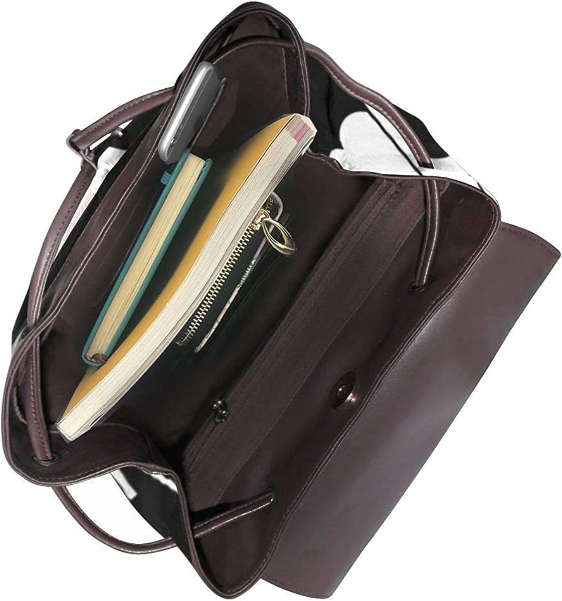 SGSKJ Rucksack Damen Mini Ea, Leder Rucksack Damen 13 Inch Laptop Rucksack Frauen Leder Schultasche Casual Daypack Schulrucksäcke Tasche Schulranzen 6