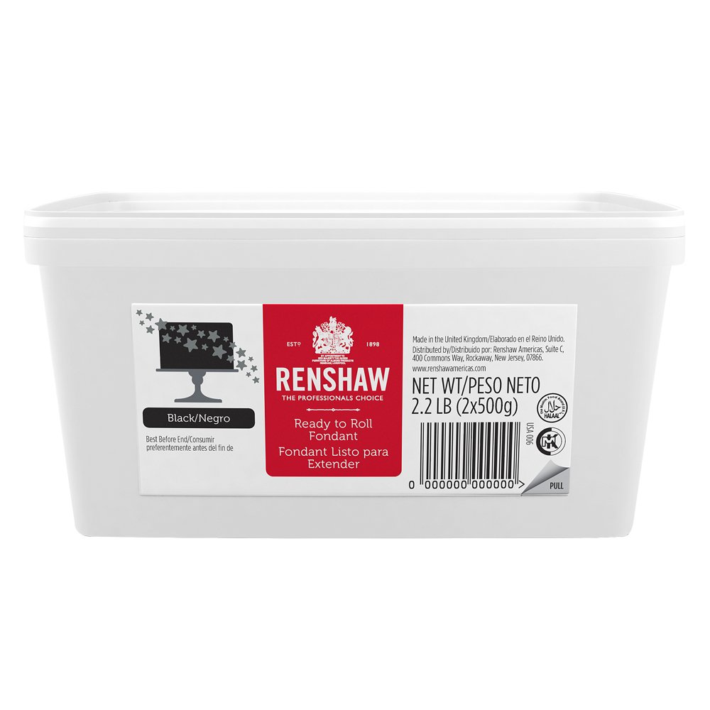 Ready to Roll Fondant Icing Black 2.2lb Pail by Renshaw