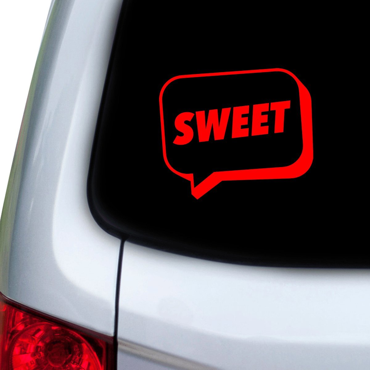 StickAny Car and Auto Decal Series Sweet Speech Bubble Sticker for Windows Doors Red Hoods