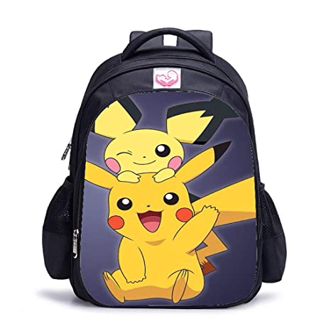 Mochila Pokemon Niños, Pokemon Go Pikachu Mochila Portátil para ...