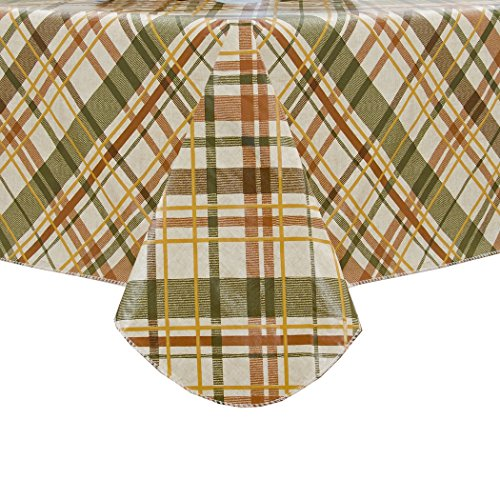 Elrene Home Fashions Vinyl Tablecloth With Polyester