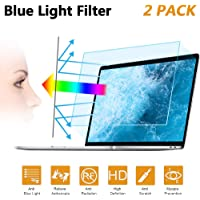"2PC 15.6 in Anti Blue Light Laptop Screen Protector, Anti Glare Filter Film Eye Protection Blue Light Blocking Screen Protector for 15.6"" Display 16:9"