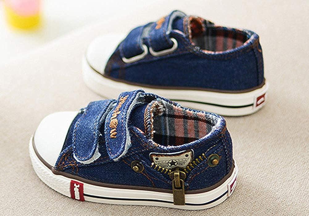 Boys Hook and Loop Canvas Sneaker Cowboy Low Top Skate Shoes