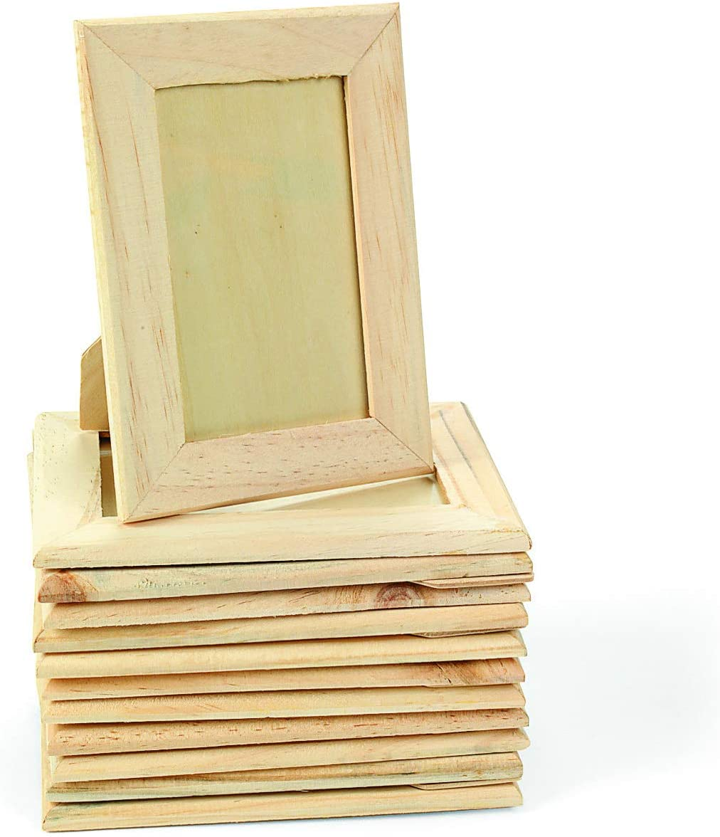Amazon Com Diy Wood Picture Frames Set Of 12 Do It Yourself Unfinished Wood Crafts For Kids And Fun Home Activities