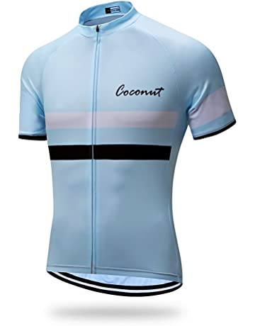 Coconut Ropamo Mens Short Sleeve Cycling Jersey Mountain Bike MTB Shirt  Biking Cycle Tops Racing e509b03e8