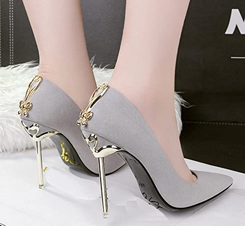 Chaussures Femme gris  Mode Talon Aiguille Escarpins pas cher