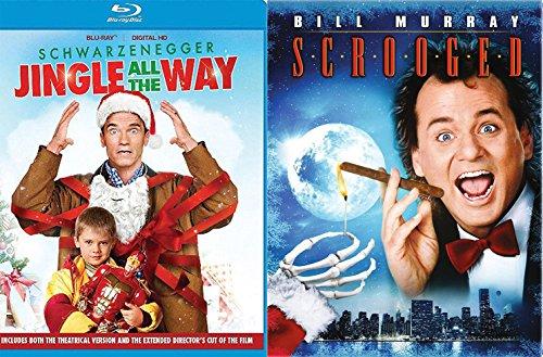 A Jingle Christmas Bah Humbug Double Feature Movie Bill Murray Scrooged & Jingle All The Way Holiday Comedy - High Santa Street Mall