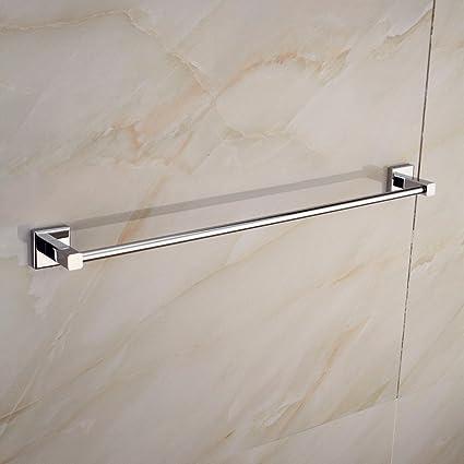 LVLIDAN Soporte colgador de toallas de baño de capa única rampa Toallero estilo simple pared 50cm