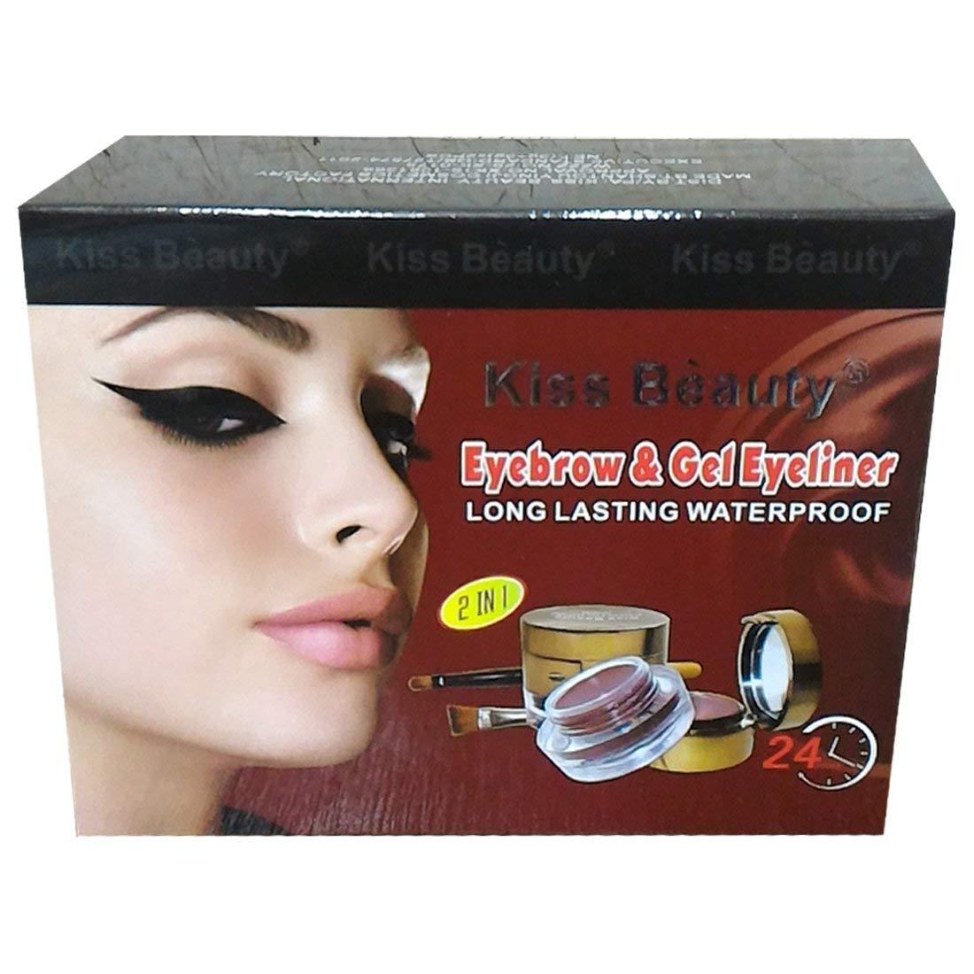 Buy Kiss Beauty Eyeliner Eyebrow Powder With Kajal Black And Brown