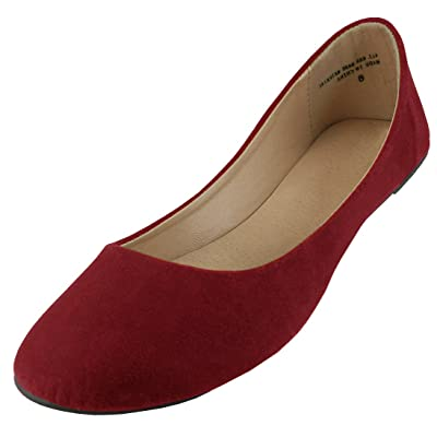 Amazon.com | Cambridge Select Women's Classic Slip-On Closed Round Toe Ballet Flat | Shoes