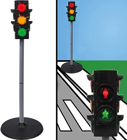 Verkehrszeichen Verkehrsschilder Set Spielzeug Ampel Schilder Kinder Verkehrserziehung Ampelanlage