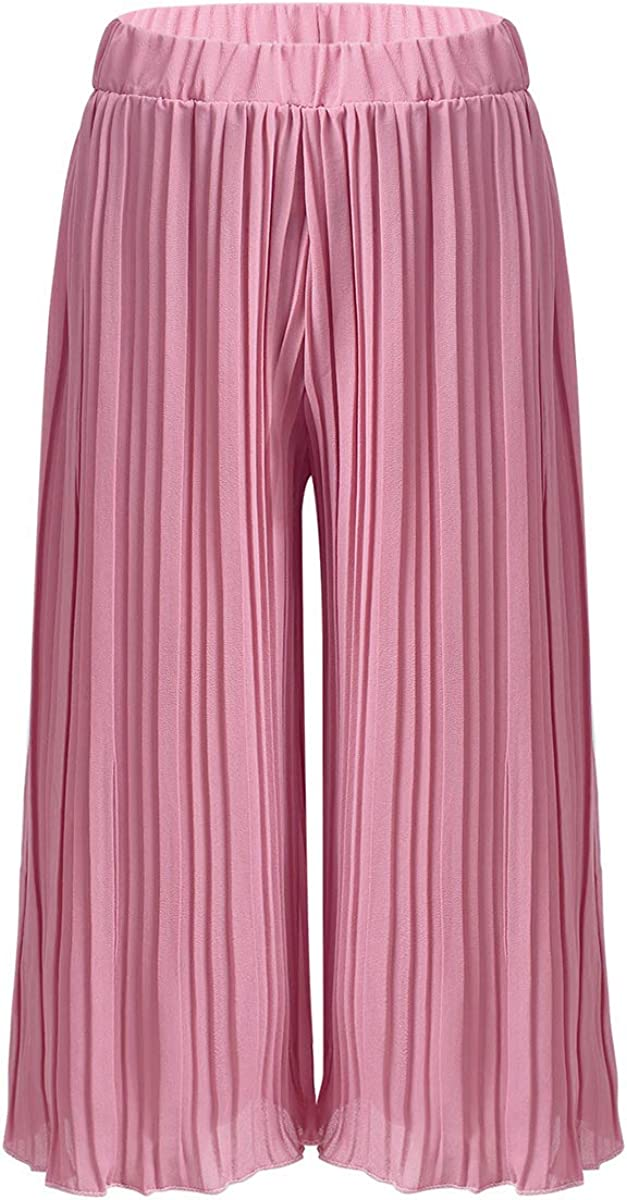 ACSUSS Kids Girls Liturgical Praise Spirit Celebration Palazzo Pants Dancewear Loose Fit Wide Leg Flowy Pants