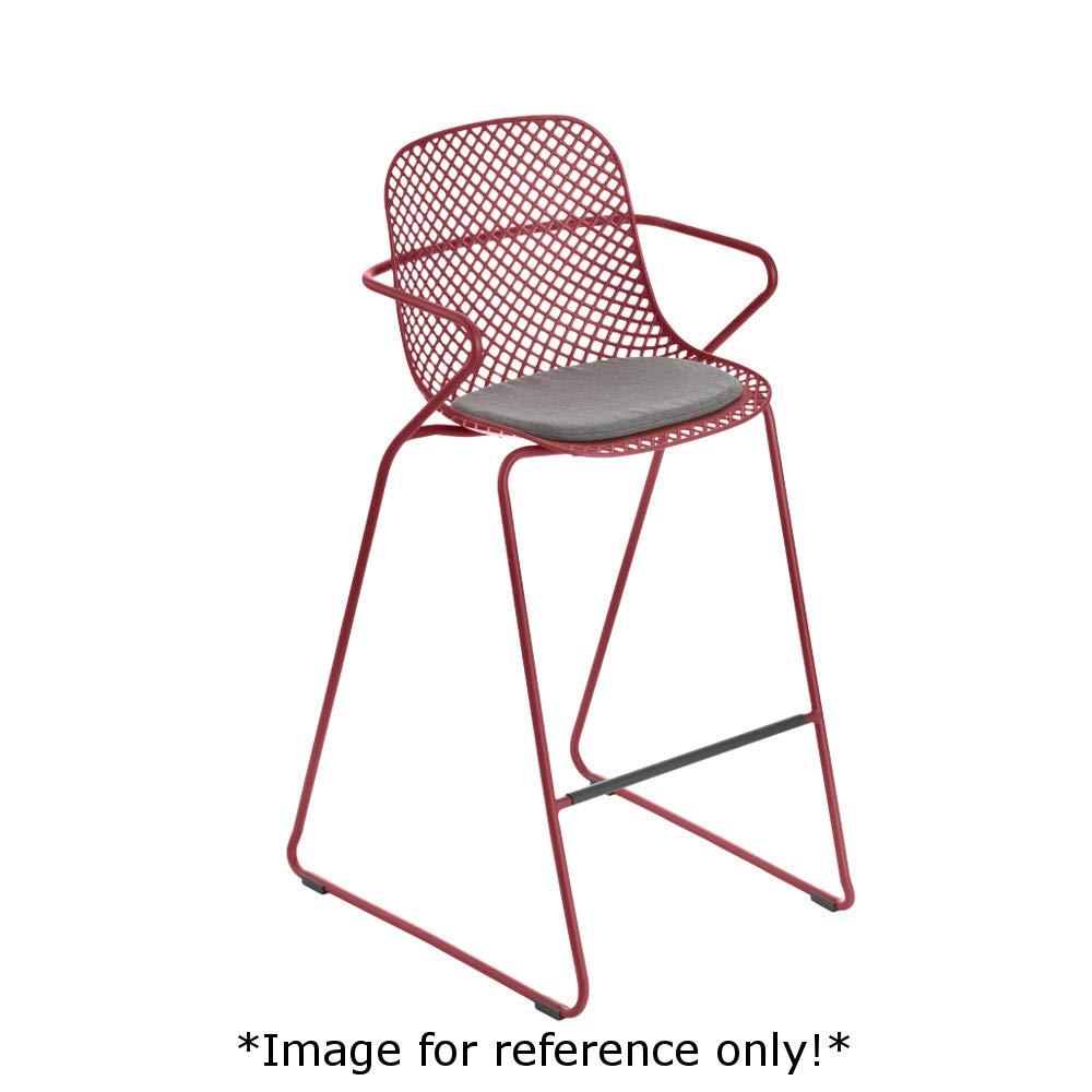 Grosfillex US139712 Ramatuelle '73 Armchair, Stackable, Rouge Bossa Nova (Case of 2)