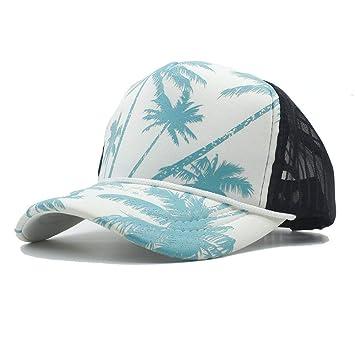 ... Verano Marea Gorra de béisbol de Malla con árbol de Coco Vacaciones en la Playa Sombreros de Camionero Personalizado Airy Snapback: Amazon.es: Hogar