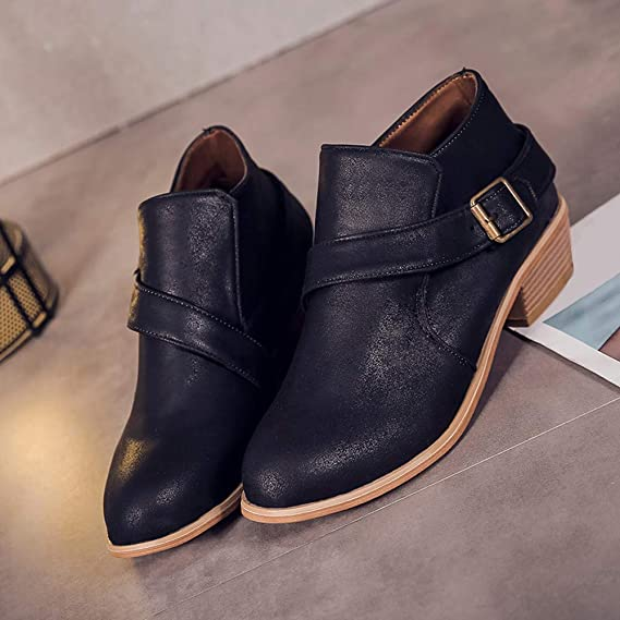 Amazon.com: Clearance for Shoes,AIMTOPPY Round Head Buckle Solid Color Martin Boots Womens Shoes: Computers & Accessories