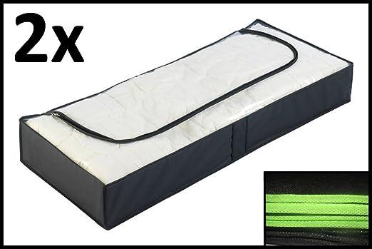 LPPO Juego de 2 Cajas de Almacenamiento para Colocar Debajo Orden Caja antipolillas Bajocama con Espacio: Amazon.es: Hogar