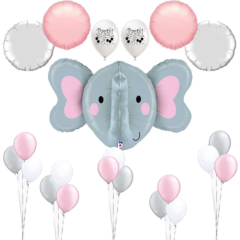 Amazon.com: Combined Brand Pink Elephant Baby Shower Decorations Elephant  Balloon Room Decoration Set: Home & Kitchen