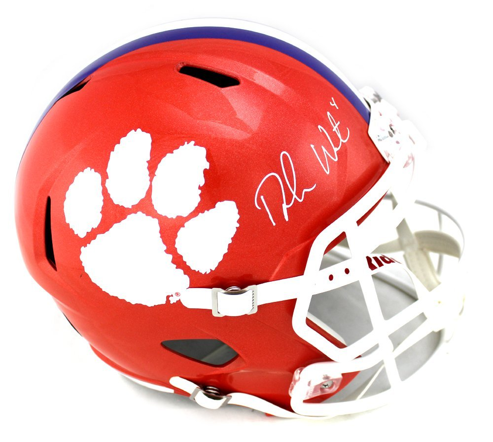 Deshaun Watson Autographed Signed Clemson Tigers Riddell Speed Full Size  NCAA Helmet at Amazon s Sports Collectibles Store 0097b146d
