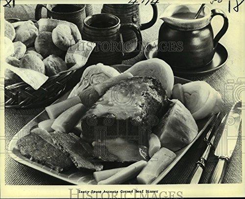 1979 Press Photo Corned Beef with Horseradish Sauce - nob16646