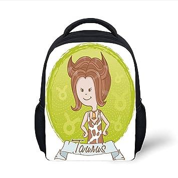 Amazon.com  iPrint Kids School Backpack Taurus 7b2beb8d4da58