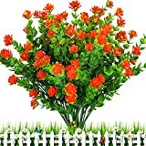 E-HAND Artificial Flowers Outdoor Red UV Resistant Plants Plastic Fake Window Box Wholesale 4PCS