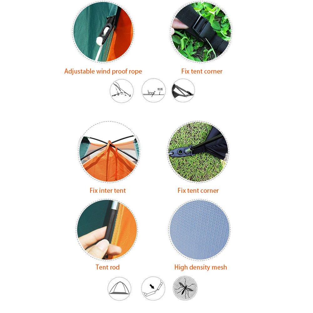 4/personnes Tente dext/érieur Skytower Vert Uni Festival Camping Randonn/ée D/ôme /Étanche Compact 3