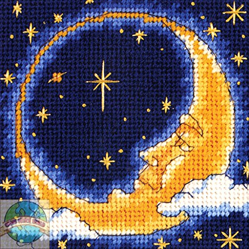 Cresent Moon Chunky Cross Stitch Needlepoint Kit Vervaco 16