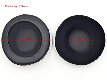 650cc592d50 Image Unavailable. Image not available for. Color: 85MM Velour Velvet Ear  Pads Cushion for Skullcandy Hesh ...