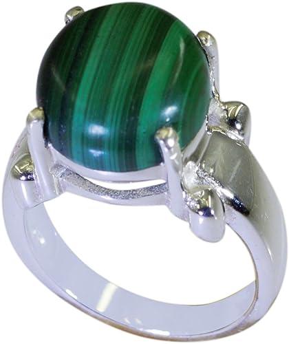 Vintage Navajo Malachite Sterling Silver Ring 925 Size 5.25