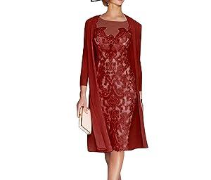 Sky Dress Women's Mother of The Bride Dresses Tea Length with Jacket SD001BG-US2