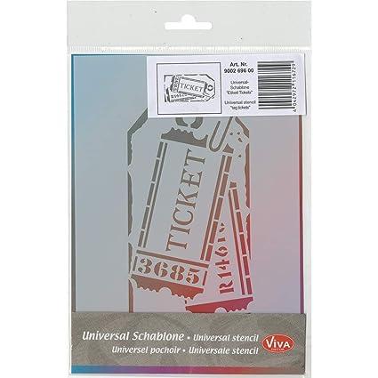 Amazon Com Viva Decor Label Tickets Universal Stencil 5 83