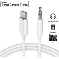Aux Cord for iPhone X/XS Aux Cable for Car for iPhone 11/11 Pro/X/XS/8/8Plus/7/7Plus 3.5mm Male Stereo Audio/Car Aux/Home Stereo Cable/Speaker/Headphone Adapter Support iOS 13 System 3.3ft