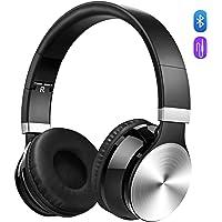 OMORC Bluetooth Cuffie Stereo Waver Wireless Headphones Pieghevole Over-Ear Bluetooth 4.0 Auricolari Microfono Ricaricabile Funziona 8 Ore, per iPhone, Samsung Galaxy, Huawei e Smartphone, Argento