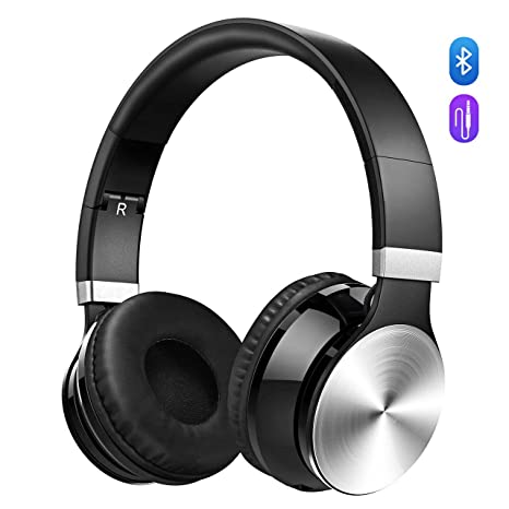 OMORC Bluetooth Cuffie Stereo Waver Wireless Headphones Pieghevole Over-Ear  Bluetooth 4.0 Auricolari Microfono Ricaricabile eb0ee2569ef5