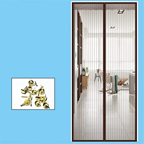 LANDP Mosquitera Puerta El Verano Costura Completa de Velcro ...