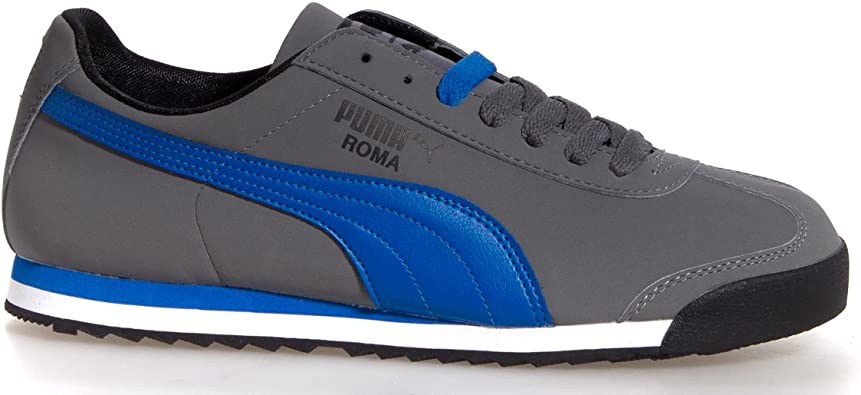 Puma Roma Mens Shoes Smooth NBK Black//Red Steel Grey US Size 11.5 Europe Size 45