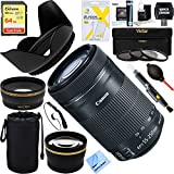 Canon EF-S 55-250mm f/4-5.6 IS STM Lens (8546B002) + 64GB Ultimate Filter Bundle