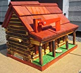 Log Cabin Shack Mailbox (Red)