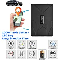 Car GPS Tracker Strong Magnetic GPS Locator Tracking Device No Monthly Fee Real Time Personal with SOS Alarm Geo-Fence Anti-Lost for Cars SUVs Motorcycles Trucks Vehicles Boats