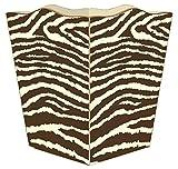 WB1448- Brown & Creme Zebra Wastepaper Basket