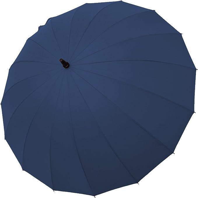 Large Protection de 95 CM de diam/ètre Vert Ultra R/ésistant Blunt Parapluie TEMP/ÊTE Pliant 6 Baleines Incassables Fibre de Verre Anti Vent Anti Retournement